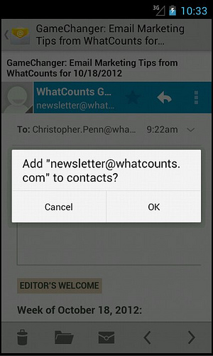 Android - How to whitelist
