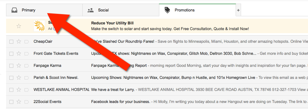 Gmail Whitelisting